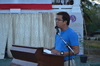 Vice Mayor Luis Marcaida gives his message on behalf of City Mayor Lucilo Bayron.JPG