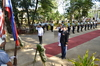 DND USec. Jesus Millan, Ltc. Alisha Hamel and VADM Alexander Lopez during the Wreath Laying Ceremony at Plaza Cuartel 2.JPG